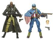 MARVEL LEGENDS 2 PK FIGURE - ULTIMATE CAPTAIN AMERICA & NCK FURY 9SIAD245E31461