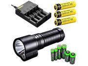 FENIX TK51 1800 Lumen Dual Beam CREE XM-L2 U2 LED Flashlight with 3X Nitecore NL186 18650 2600mAh Li-ion rechargeable ba