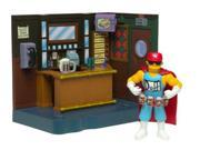 The Simpsons Exclusive Playset Moe's Bar with Duffman 9SIA17P5TH3661