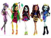 Monster High Scaris City of Fright Complete Set of 5 Fashion Dolls: Skelita Calaveras, Jinafire Long, Clawdeen Wolf, Fra 9SIV16A66W7044