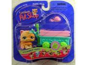 Littlest Pet Shop Orange Spring Kitten w Wagon 217
