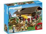 Playmobil 5422 Alpine Lodge with with Fireplace, Bar and Lounge, 5 People, Animals and Much More
