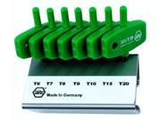 Wiha 36598 MagicSpring Wing Handle Torx, T6, T7, T8, T9, T10, T15 and T20, 7-Piece Set