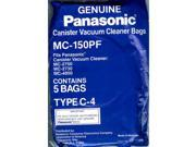 Panasonic MC-150PF 5-Pack Of Canister Vacuum Bags