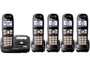 Panasonic KX-TG6595T Titanium Black DECT 6.0+ Amplified sound