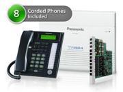Panasonic KX-TA824-7736-5CO 8 pack KX-TA824 Phone System + KX-TA82483 Exp. Card + KX-T7736 Corded Phones