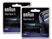 Braun 32S 2 Pack Silver Men's Shaver Replacement Foil & Cutter New 5774761