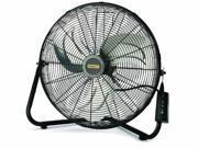 Lasko Products 655650 Stanley Remote Control Fan w/Quick Mount 3 Speed - Black