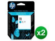 HP 11 Cyan Printhead C4811A (2-Pack) INK, HP NO 11 CYAN PRINTHEAD 9SIA4AW6NJ9706