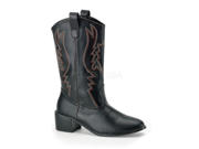 Mens Cowboy Western Rodeo Costume Black Boots