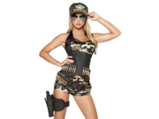 Sexy Womens Army Military Cadet Camouflage Halloween Costume