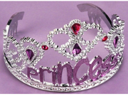 Kids Dress Up Pink Princess Jewel Pageant Costume Tiara