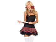 Sexy Naughty Schoolgirl Costume Plaid Petticoat Dress