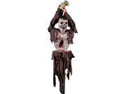 Spooky Tied Up Skeleton Bird Feeder Halloween Decoration