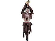 Spooky Tied Up Skeleton Bird Feeder Halloween Decoration