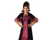 Kids Vampire Girl Dress Outfit Halloween Costume
