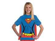 Kids Girls Supergirl Halloween Costume Tee Shirt & Cape
