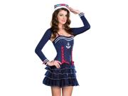 Sexy Womens Pinup Navy Sailor Girl Halloween Costume