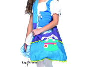 Kids Alice in Wonderland Trick Or Treat Bag Costume Purse