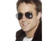 Black Gold Aviator Sunglasses 80s Cop Police Officer Pilot Costume Accessory