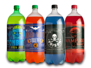 Halloween Party Glow in the Dark Soda Bottle Labels Stickers