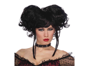 Sexy Black Curly Pigtails Gothic Burlesque Cosplay Costume Wig