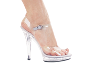 Sexy Clear Ankle Strap High Heel Sandal Shoes