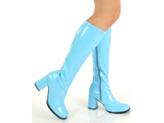 Funky Powder Blue Go-go 60s 70s Costume Boots