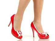 Hospital Nurse Peep Toe High Heel Costume Shoes