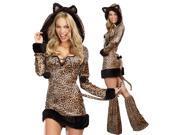 Sexy Cheetah Leopard Jungle Cat Plus Size Halloween Costume
