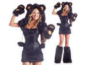 Sexy Womens Furry Black Bear Halloween Costume