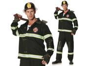 Adult Mens Black Fireman Firefighter Halloween Costume 9SIA1313893762