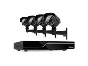 Defender 4CH H.265 500GB Security DVR & 4 Surveillance Cameras w/ IR Cut Filter