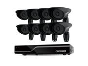 Defender PRO Sentinel 8CH Smart Security DVR with 8 Ultra Hi-res Outdoor Surveillance Cameras (21113)