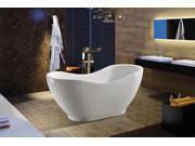 """AKDY 67"""" Acrylic Bathtub Freestanding Bathroom Shower Spa Body Contemporary Oval Bath Tub Modern Soaking W/ Tub Filler Faucet"""