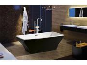 """AKDY 67"""" Acrylic Bathtub Freestanding Bathroom Shower Spa Overflow Body Contemporary Bath Tub Modern Soaking W/ Tub Filler"""