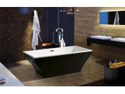 """AKDY 67"""" Acrylic Bathtub Freestanding Bathroom Shower Spa Overflow Body Contemporary Bath Tub Modern Soaking W/ Bathtub Faucet"""