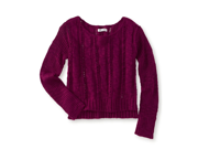 Aeropostale Womens Braided Knit Sweater 689 S
