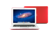 - 2 in 1 - Red Frosted Coated Hard Snap On  Case Cover for 13.3 inches Macbook Air - TPU Transparent Keyboard  Cover -