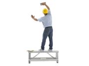 Pentagon Tool Professional Aluminum Drywall Bench Adjustable Lift Step Workbench