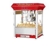 Great Northern Pasadena Red Antique Style Popcorn Popper Machine, 8 oz