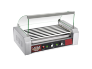 Great Northern Popcorn Commercial 18 Hot Dog 7 Roller Grilling Machine W/ Cover 9SIA1B00BB8120