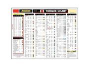 "Accutorq 10-0103 Color Coded Application Wall Chart 25"" X 19"""