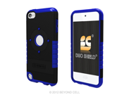 Duo Shield Hybrid Case Cover + Screen Protector Film for Apple iPod Touch 5th Generation (Black/Blue)