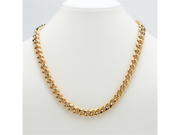 PalmBeach Jewelry Men's Curb-Link Chain in Yellow Gold Tone 30""
