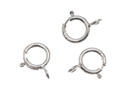 Sterling Silver Open Spring Ring Clasps 5mm