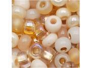Czech Seed Beads 6/0 'Saharan Sands' Mix Lot Cream Tan