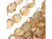 Czech Fire Polished Glass Beads 6mm Round Cryst Celsian/25