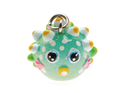 Hand Painted 3D Puffer Fish Lightweight Jewelry Charm/1
