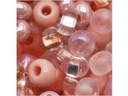 Czech Seed Beads 6/0 'Rose Garden' Pink Mix Lot